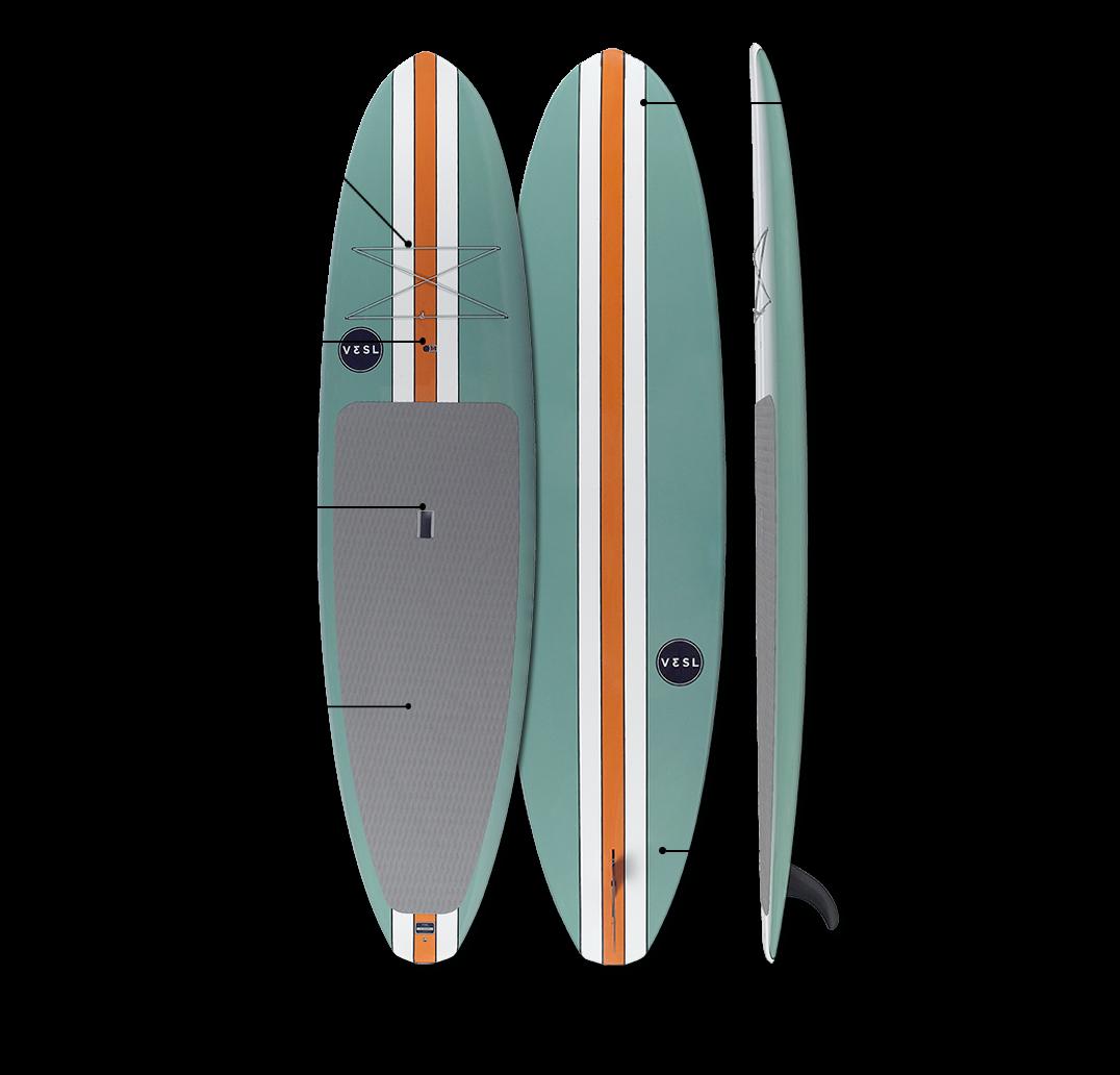 vesl retro paddle board